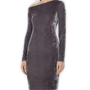 Reiss Xeni Grey Velvet Bodycon Party Dress 🎉 Sz 4